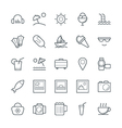 Summer Cool Icons 5 vector image vector image