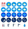 Symbols for climate changes diagnostic vector image vector image