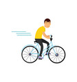 teen boy cycling on bicycle boy doing sport vector image vector image