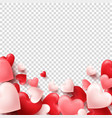 valentines day abstract background white red vector image vector image