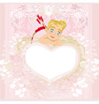valentines frame with a sweet cupid vector image vector image