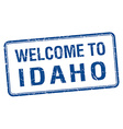 welcome to Idaho blue grunge square stamp vector image vector image