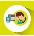 woman customer complaints call center vector image