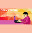 business man working day concept using laptop vector image