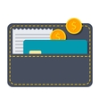 Black Wallet vector image