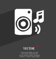 music column disco music melody speaker icon vector image