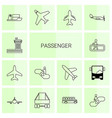 14 passenger icons vector image vector image