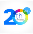 20 anniversary chart logo vector image vector image