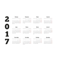 2017 year simple calendar on russian language vector image vector image