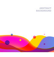 abstract creative of multicolor transparent vector image vector image
