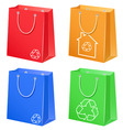 bags with eco symbol vector image vector image