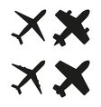 black planes vector image