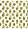 botanicals pattern cactus set background im vector image