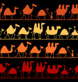 camels caravan seamless pattern for your design vector image vector image