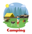 Camping and outdoor recreation concept vector image vector image