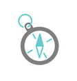 camping compass icon on white background for vector image vector image