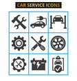 car service and repair icons set on white vector image vector image