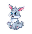 cartoon rabbit isolated vector image vector image