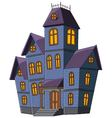 Cartoon scary house isolated on white background vector image vector image