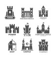 castle or fortress parts for logo or icons vector image