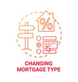 changing mortgage type concept icon vector image vector image
