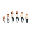 character of a woman in different ages generation vector image