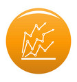 chart icon orange vector image vector image