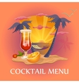 Cocktail menu template vector image