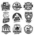 college athletic labels varsity emblems vintage vector image