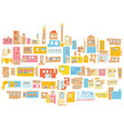 color hindu arabian urban architectural city vector image vector image