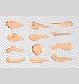 concealer smears set foundation cream vector image