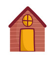 cottage cartoon countryside architecture isolated vector image