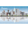 Denver Skyline with Gray Buildings Blue Sky vector image vector image