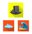design of natural and disaster icon vector image vector image