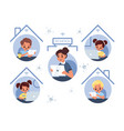 distance kids learning children team education vector image vector image