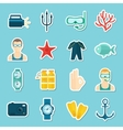Diving Icons Set vector image vector image