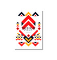 Ethno card template abstract design ethnic tribal