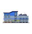 facade shopping mall commercial building vector image
