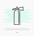fire extinguisher thin line icon vector image