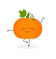 funny cartoon pumpkin ballerina vector image