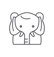 funny elephant line icon concept funny elephant vector image vector image