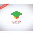 Graduation Hat logo icon Education vector image