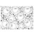 hand drawn of traditional christmas drink eggnog b vector image vector image