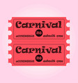 happy brazilian carnival day pink carnival circus vector image vector image