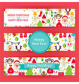 Happy New Year Template Banners Set Modern Flat vector image vector image