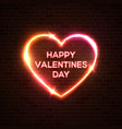 happy valentines day neon background color card vector image vector image