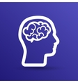 Head brain icon think design over vector image
