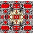 islamic design golden textile print floral tiles vector image vector image
