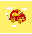 kiddy red vintage toy car vector image vector image