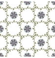 Leaf and flower geometric seamless pattern vector image vector image